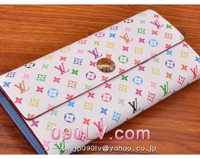 M93742 ルイヴィトン財布 スーパーコピー モノグラムマルチカラー ファスナー付財布 二つ折財布 財布&小物