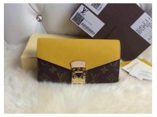 M58413黄色 ルイヴィトン財布 コピー Pallas財布 モノグラム ポルトフォイユ・パラスス 二つ折財布 財布&小物