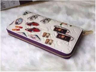 M50370PU ルイヴィトン財布スーパーコピー 2015新作財布 ジッピーウォレットファスナー式の財布 紫色 財布&小物