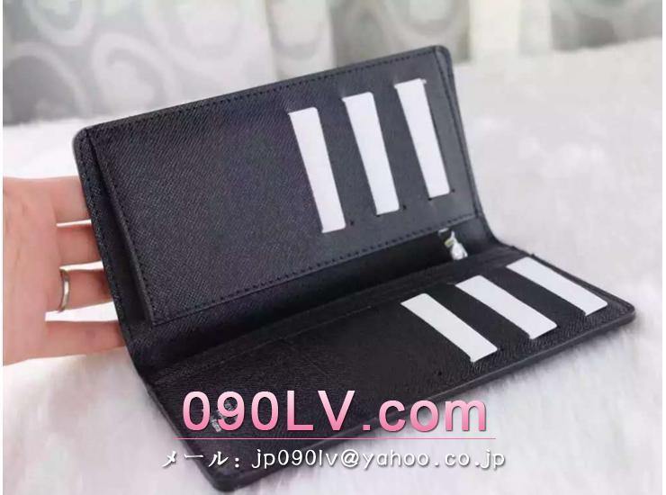 N62665 ルイヴィトン財布スーパーコピー ポルトフォイユ ブラザ ダミエ グラフィット二つ折財布 財布&小物