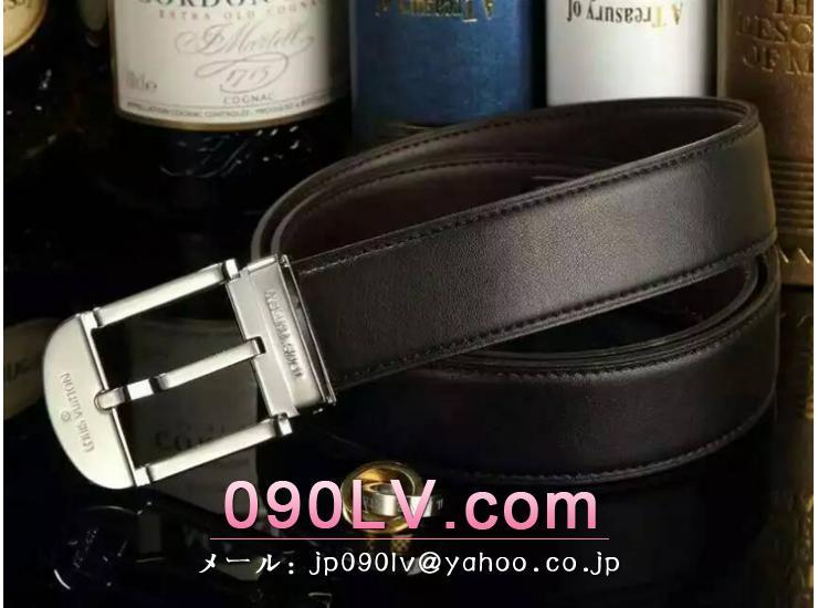 LV013 ルイヴィトンベルトスーパーコピー 牛革 銀色のベルトヘッド