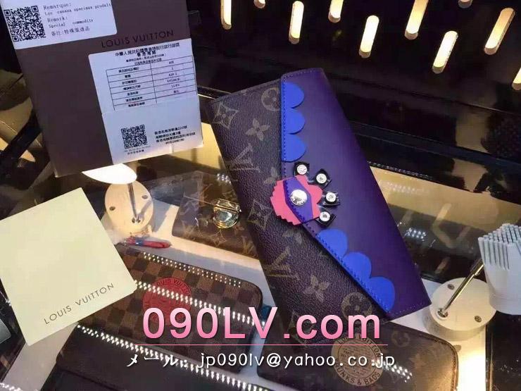 M61347ルイヴィトン人気財布 LOUIS VUITTON モノグラム・キャンバス ポルトフォイユ・サラ