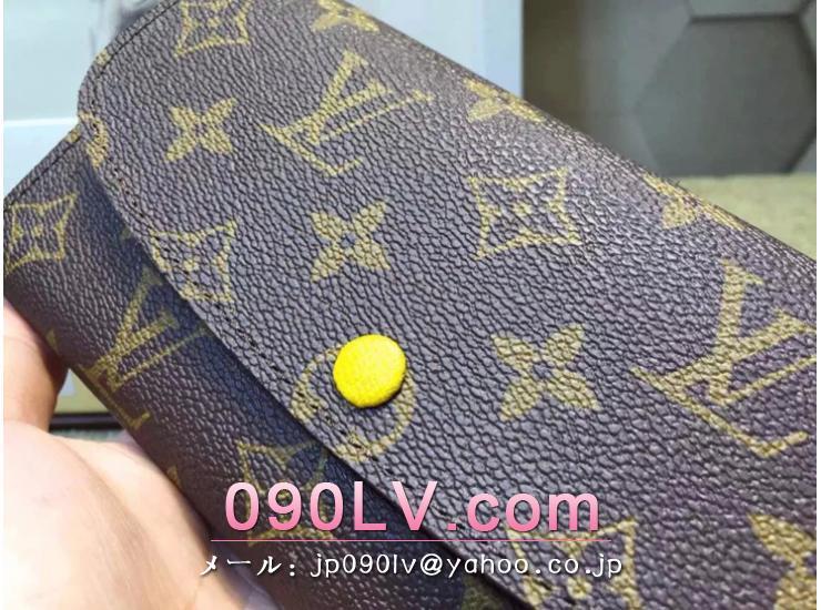 M60139 ルイヴィトン二つ折財布 モノグラム ポルトフォイユエミリー 長財布 ダークブラウン&ルージュ超人気ブランドのルイヴィトン モノグラム財布コピー