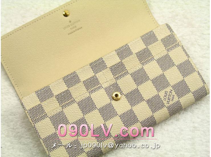 N61735 ヴィトンダミエアズール長ファスナー財布 ルイヴィトン 二つ折財布偽物