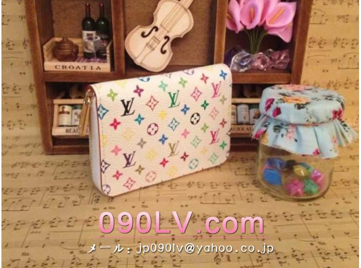 M93741 LOUIS VUITTON ジッピー・コイン-パース-モノグラム・マルチカラー財布&小物  ラウンド財布 ブランドコピールイヴィトン