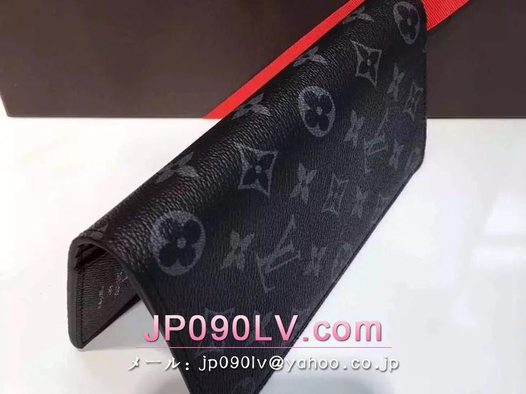 売れ筋人気ランキング財布M61697 ルイヴィトンポルトフォイユ・ブラザ財布 モノグラム・エクリプス キャンバス