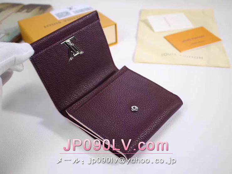 ルイヴィトン 二つ折り財布 コピー 「LOUIS VUITTON」 ポルトフォイユ・ロックミーII コンパクト ミニ財布 トリヨン ヴィトン 小銭入れ 3色可選択 プルーヌ M64837