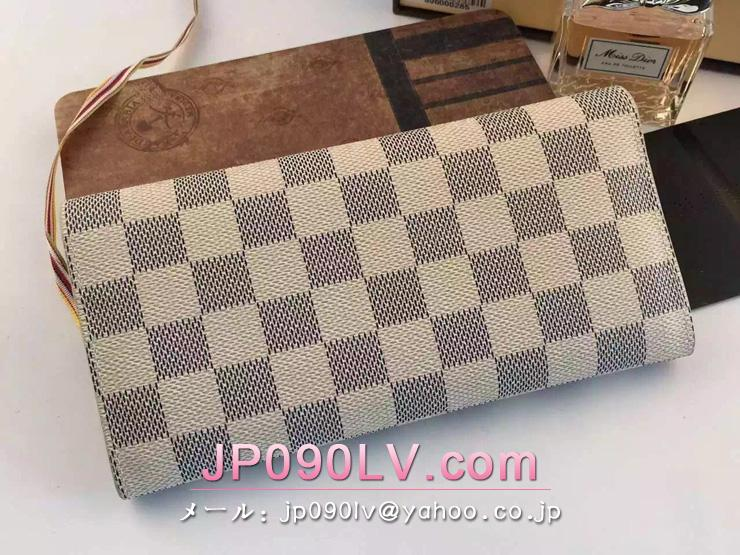 ルイヴィトン ダミエ・アズール 財布 スーパーコピー N63545 「LOUIS VUITTON」 ポルトフォイユ・ジョセフィーヌ ヴィトン レディース 人気 三つ折り長財布