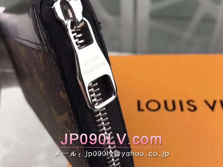 ルイヴィトン モノグラム 長財布 コピー M60109 「LOUIS VUITTON」 ジッピー・ウォレット ヴェルティカル ヴィトン モノグラム・マカサー メンズ ラウンドファスナー財布