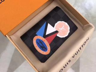 ルイヴィトン ダミエ・グラフィット 財布 コピー N64440 「LOUIS VUITTON」 オーガナイザー・ドゥ ポッシュ ヴィトン LVリーグ メンズ 二つ折り財布