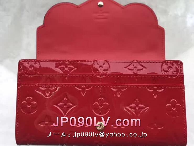 ルイヴィトン モノグラム・ヴェルニ 長財布 コピー M90489 「LOUIS VUITTON」 ポルトフォイユ・サラ ヴィトン レディース 二つ折り財布