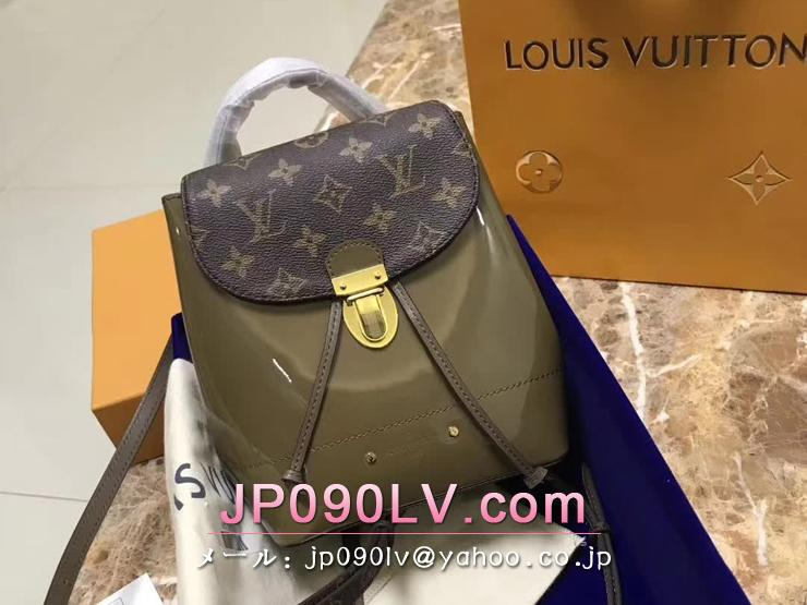 ルイヴィトン パテント バッグ コピー M54389 「LOUIS VUITTON」 ホットスプリング ヴィトン レディース バックパック 2色 ヴェール・ブロンズ