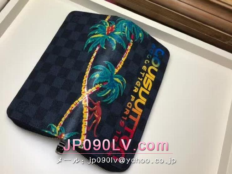 ルイヴィトン ダミエ・コバルト 財布 スーパーコピー N60120 「LOUIS VUITTON」 ジッピーウォレット・ヴェルティカル ヴィトン メンズ ラウンドファスナー財布