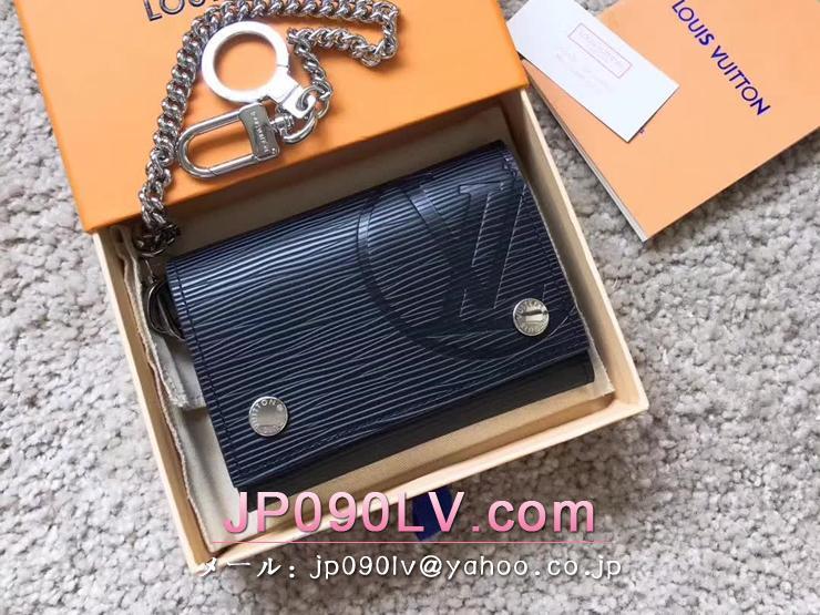 ルイヴィトン エピ 財布 コピー M63518 「LOUIS VUITTON」 チェーン・コンパクトウォレット ヴィトン メンズ 三つ折り財布