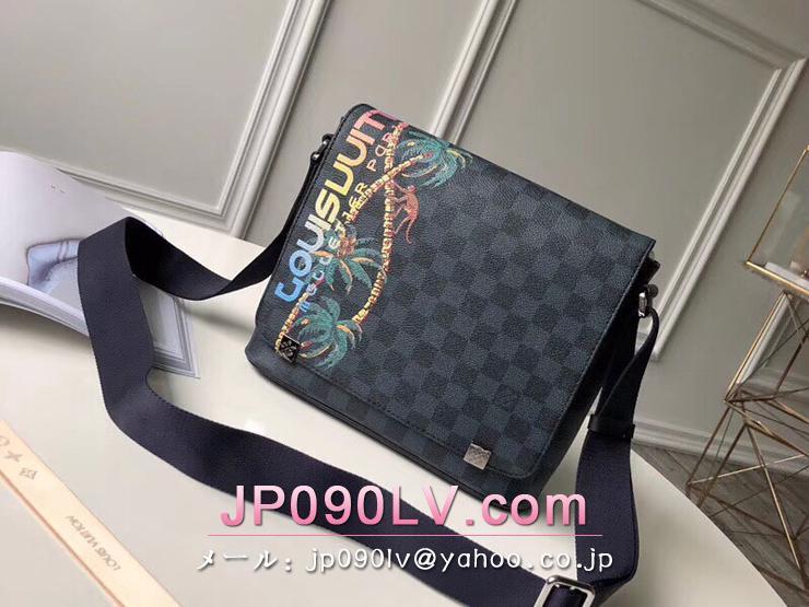 ルイヴィトン ダミエ・コバルト バッグ コピー N50005 「LOUIS VUITTON」 ディストリクト PM NM ショルダーバッグ ヴィトン メンズ メッセンジャーバッグ