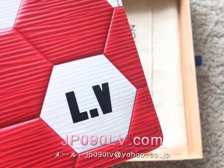 ルイヴィトン エピ 長財布 コピー M63230 「LOUIS VUITTON」 ポルトフォイユ・スレンダー LV 2018FIFAワールドカップ™ メンズ 二つ折り財布 2色選択可 ルージュ