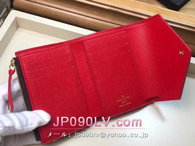 ルイヴィトン ダミエ・エベヌ 財布 スーパーコピー N61013 「LOUIS VUITTON」 ポルトフォイユ・ヴィクトリーヌ ヴィトン レディース 三つ折り財布
