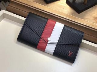 ルイヴィトン エピ 長財布 コピー M62985 「LOUIS VUITTON」 ポルトフォイユ・サラ ヴィトン レディース 二つ折り財布 2色選択可 ノワール