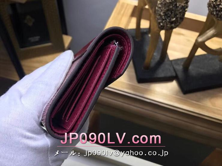 ルイヴィトン エピ 財布 スーパーコピー M62171 「LOUIS VUITTON」 ポルトフォイユ・ヴィクトリーヌ ヴィトン レディース 三つ折り財布 4色選択可 フューシャ