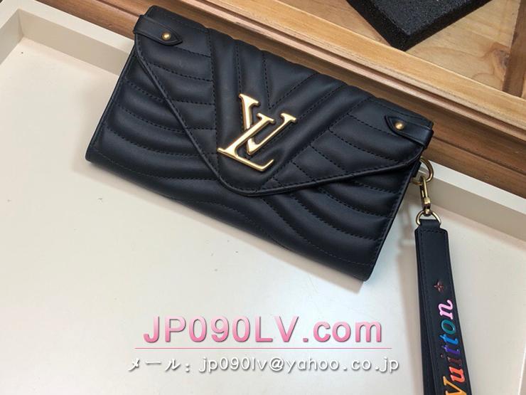 ルイ・ヴィトン 長財布 スーパーコピー M63298 「LOUIS VUITTON」 ニューウェーブ ロング・ウォレット レディース 二つ折り財布 4色可選択 ブラック