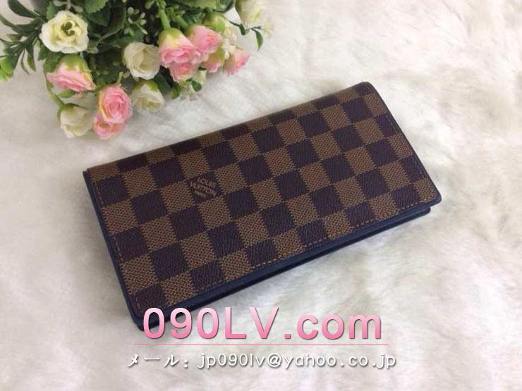 ルイヴィトン財布 コピー N63168 人気新作 ポルトフォイユ・ブラザ-ダミエ 大容量二つ折財布