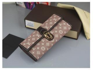 M63008 ルイヴィトン財布 スーパーコピー モノグラム イディール ポルトフォイユ・サラ 長財布 セピア 財布&小物
