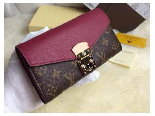 M58413PU ルイヴィトン財布 スーパーコピー モノグラム ポルトフォイユ・パラス 二つ折財布2015新作 紫色 財布&小物