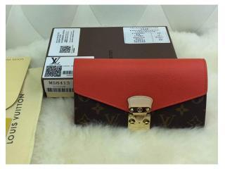 M58414橙色 ルイヴィトン財布 スーパーコピー モノグラム ポルトフォイユ・パラス財布 Pallas財布 財布&小物