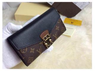 M58415黒 ルイヴィトン財布 コピー 人気ランキング ポルトフォイユ・パラス 二つ折財布偽物 財布&小物
