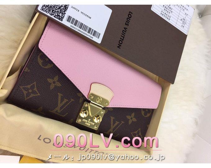 M58415桜色 ルイヴィトン財布 スーパーコピー 大人気定番商品 「ポルトフォイユ・パラス」 Pallas財布 財布&小物