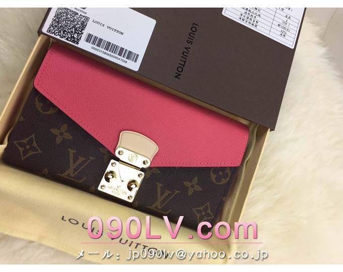 M58417 ルイヴィトン財布 コピー 財布人気ランキング 「ポルトフォイユ・パラス」桃色 財布&小物
