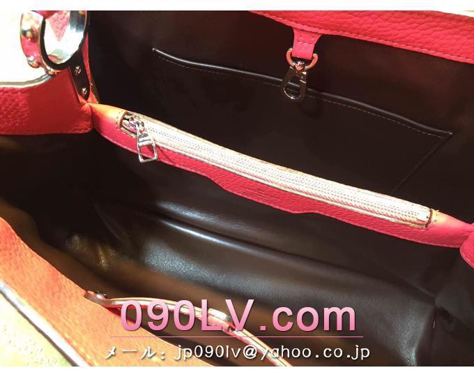 M94671 ルイヴィトンバッグ スーパーコピー カプシーヌMM レザー LVシグネチャー トートバッグ ハンドバッグ レザーコレクション