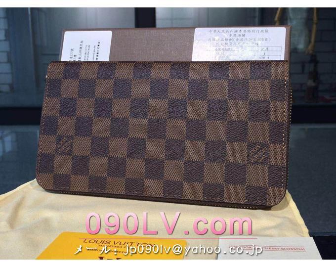N60003 ルイヴィトン財布 スーパーコピー  ダミエ長財布 ジッピー ラウンドファスナー 財布&小物
