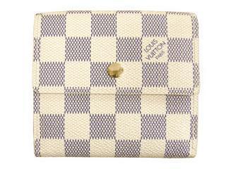 N61733ルイ・ヴィトン ダミエアズール ポルトフォイユ・エリーズ財布(Wホック財布)
