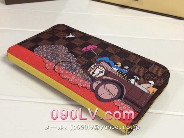 N61240 ルイヴィトン財布ジッピー・ウォレット ファスナー開閉式財布ダミエラウンドファスナー財布