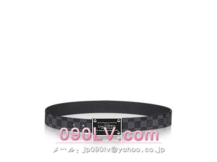 "LOUIS VUITTONベルト ""ダミエ・グラフィット""M9632V"