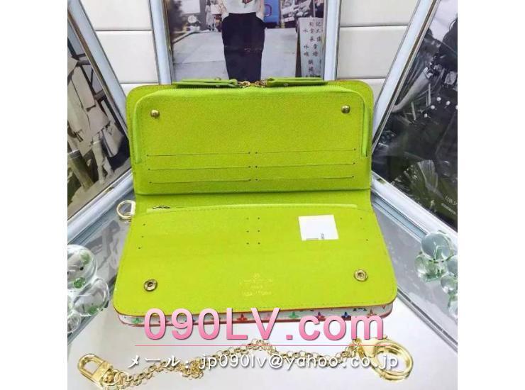 ルイヴィトン 二つ折財布 コピーポルトフォイユアンソリット財布 ルイヴィトン・マルチカラー財布M93750
