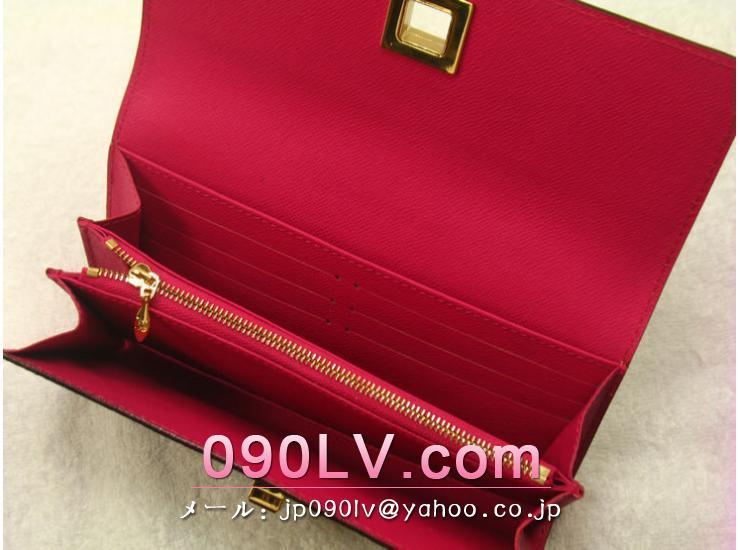 ルイヴィトンモノグラム マルチカラー財布  LOUIS VUITTON ポルトフォイユ・サラ ヌー 長財布 ブラック&グルナード M60278