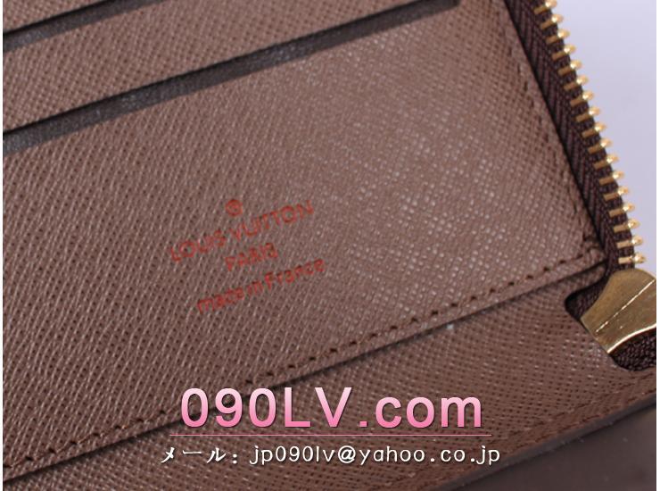 ルイヴィトンブランド偽物クラッチバッグ AN2015 ダミエラウンドファスナー財布