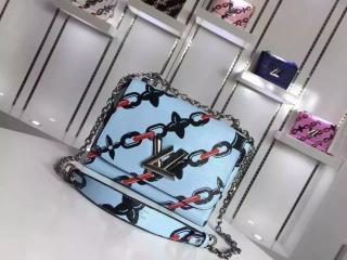 ルイヴィトンツイストMMバッグ チェーン・フラワー プリント人気商品のハンドバッグ M42453LB