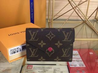 ルイ・ヴィトン モノグラム 財布スーパーコピー「LOUIS VUITTON」ポルトフォイユ・ヴィクトリーヌ モノグラム フューシャ M41938D - 財布&小物