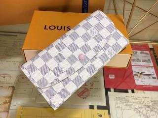 N41625 ルイヴィトン ダミエ・アズール 長財布 コピー「LOUIS VUITTON」 ポルトフォイユ・エミリー 二つ折り財布