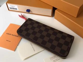 ルイヴィトン ダミエ・エベヌ 財布 コピー N60534 LOUIS VUITTON ポルトフォイユ・クレマンス スリーズ ドファスナー長財布