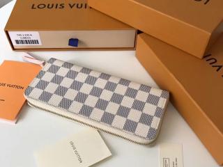 ルイヴィトン ダミエ・アズール 財布 コピー LOUIS VUITTON ポルトフォイユ・クレマンス ローズ・バレリーヌ N61264 ドファスナー財布