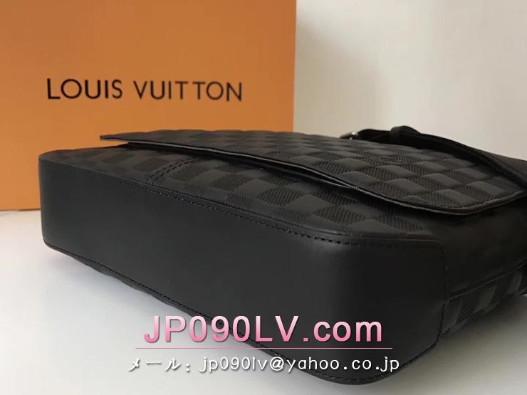 ルイヴィトン ダミエ・アンフィニ バッグ コピー LOUIS VUITTON ディストリクト PM NM メンズ ショルダーバッグ N41286 シルバー金具