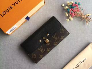 M61835 ルイヴィトン モノグラム 財布 コピー「LOUIS VUITTON」ポルトフォイユ・ヴィーナス モノグラム x トリヨン ノワール 二つ折り長財布