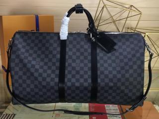 ルイヴィトン ダミエ・グラフィット バッグ スーパーコピー N41413 キーポル・バンドリエール 55 ダミエ・グラフィット トラベル旅行用バッグ
