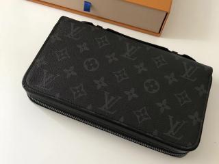 ルイヴィトン モノグラム・エクリプス 長財布 コピー 「LOUIS VUITTON」 ジッピーXL ヴィトン メンズ M61698 ラウンドファスナー財布