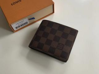 ルイヴィトン メンズ 二つ折り財布 N60895 ポルトフォイユ・ミュルティプル 「LOUIS VUITTON」 ヴィトン ダミエ・エベヌ 財布 スーパーコピー
