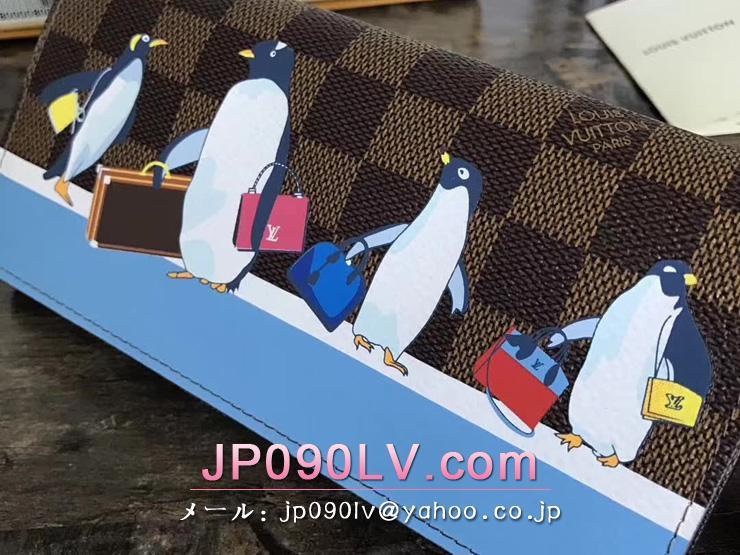ルイヴィトン ダミエ・エベヌ 財布 コピー N64426 「LOUIS VUITTON」 ポルトフォイユ・サラ ヴィトン 財布 新作 レディース 二つ折り長財布